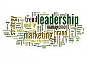 High resolution concept or conceptual abstract leadership and business word cloud or wordcloud isola