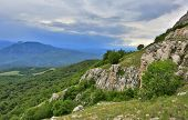 Nice landscape in crimean mountains