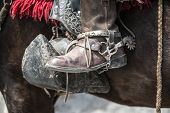 stock photo of gaucho  - Shoes of guacho charro cowboy in Latin America - JPG