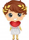 image of toga  - Illustration Featuring a Boy Wearing a Roman Costume - JPG