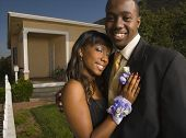 picture of boutonniere  - African couple hugging - JPG