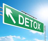 stock photo of cleanse  - Illustration depicting a sign with a detox concept - JPG