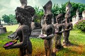 picture of religious  - Amazing view of mythology and religious statues at Wat Xieng Khuan Buddha park - JPG