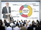 picture of seminars  - Business People in a Marketing Strategy Seminar - JPG