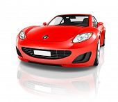 picture of status  - Red 3D Sports Car - JPG