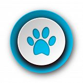 pic of webbed feet white  - foot blue modern web icon on white background  - JPG