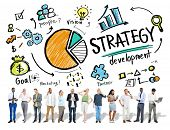 stock photo of strategy  - Strategy Development Goal Marketing Vision Planning Business Concept - JPG