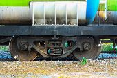 foto of caboose  - Wheel of train or railway - JPG