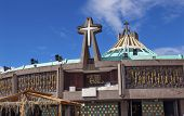 foto of guadalupe  - New Basilica Christmas Creche Shrine of the Guadalupe Mexico City Mexico - JPG