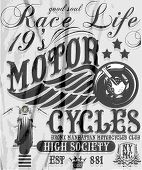 picture of mile  - Motorcycle raceway typography - JPG