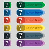 pic of number 7  - number seven icon sign - JPG