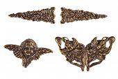 picture of cherub  - Vintage Bronze Metal Cherub  - JPG