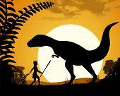 picture of tyrannosaurus  - Dinosaur Tyrannosaurus - JPG