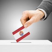 picture of french polynesia  - Voting concept  - JPG