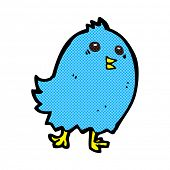 foto of bluebird  - retro comic book style cartoon bluebird - JPG