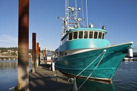 picture of workhorses  - Fishing boat moored in Newport Oregon marina - JPG