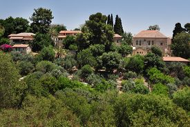 picture of cornerstone  - View of Rosh Pinna town located in the Upper Galilee on the Northern District of Israel - JPG