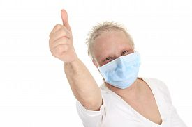picture of chemotherapy  - A chemotherapy woman wearing a medical mask - JPG