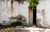 image of abandoned house  - Internal country yard of old an Abandoned village house in Cyprus - JPG