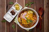 foto of thai cuisine  - Curried Noodle Soup  - JPG