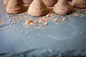 foto of truffle  - chocolate truffles as a gift sweet temptation woman he loves - JPG