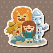 image of wizard  - The Wizard Of Oz Cartoon Theme Elements - JPG