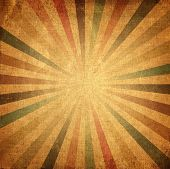 picture of sun flare  - Vintage background colorful rising sun or sun ray sun burst retro paper background - JPG