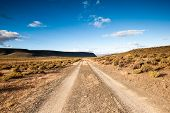 picture of semi-arid  - Image of the arid Karoo Desert in South Africa showing its raw natural beauty - JPG