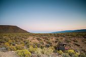 stock photo of semi-arid  - Image of the arid Karoo Desert in South Africa showing its raw natural beauty - JPG