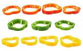 picture of yellow-pepper  - Set of sliced red - JPG