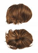 picture of wig  - Open wave hair wig isolated over the white background - JPG
