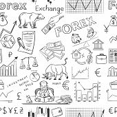 stock photo of nyse  - finance forex hand drawing pattern - JPG