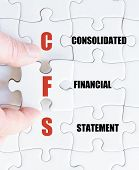 pic of statements  - Hand of a business man completing the puzzle with the last missing piece - JPG