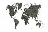 stock photo of barter  - The world of money for concept make money - JPG