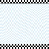 pic of sidecar  - Racing theme checkered background with a 2 row checkered top line and a 3 row checkered bottom line - JPG
