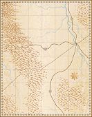 Постер, плакат: Редактируемые векторные иллюстрации старой общие карты не имена