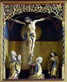 stock photo of inri  - a very old altar - JPG