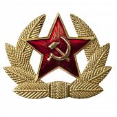 foto of hammer sickle  - Russian hammer and sickle badge - JPG