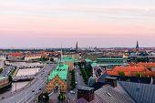 Copenhagen City Skyline poster