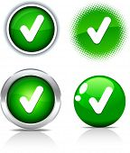 stock photo of check mark  - Check beautiful buttons - JPG