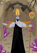 stock photo of hades  - Hades / Pluto, lord of the Underworld, welcomes you to his estates.  No transparency used. - JPG