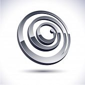 Abstract modern 3d spiral logo. Vector.