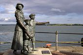 Annie Moore And Her Two Brothers Statue