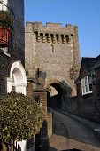 Medieval Street And Lewes Castle poster