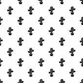 Domestic Cactus Icon. Simple Illustration Of Domestic Cactus Vector Icon For Web poster