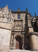 stock photo of ceres  - Facade of the old Cathedral facade in Plasencia - JPG