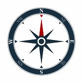 Vector Compass Rose On White Background. Vector Compass Design poster