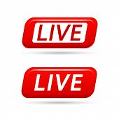 Live Video Streaming Vector Icon Isolated On White Background. Live Tv Broadcasting. Live Streaming  poster