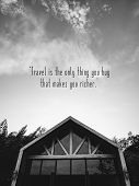 Inspirational Quotes Poster By Unknown Sources On Black And White Background Picture Show Roof And W poster
