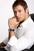 Businessman With Watch
